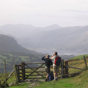 Looking back towards Borrowdale and Derwentwater © John Maher