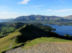 The view from Catbells over Derwentwater and Keswick as you descend Catbells © Roger Hiley www.loweswatercam.co.uk
